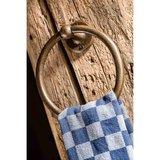 Handdoekring, ruw brons_