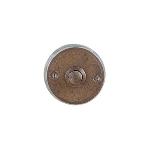 Deurbel / beldrukker BS 50 rond, ruw brons