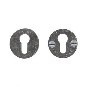 Veiligheidscilinderrozet rond, ruw metaal