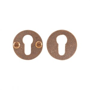 Veiligheidscilinderrozet rond, ruw brons