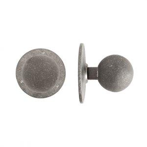 Voordeurknop bol PT-70 / 120 mm, ruw metaal