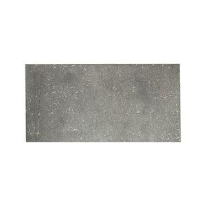 Tegel rechthoekig 10x20 cm, ruw metaal