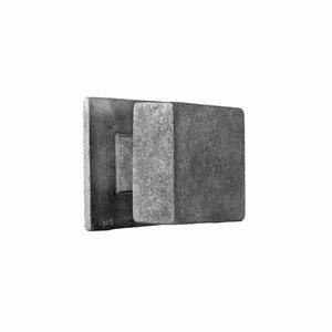 Voordeurknop vierkant PQ 65, ruw metaal