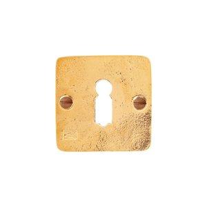 Sleutelrozet vierkant BB, ruw brons gepolijst