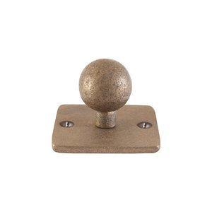 Kapstokhaak kogel op vierkant rozet, ruw brons